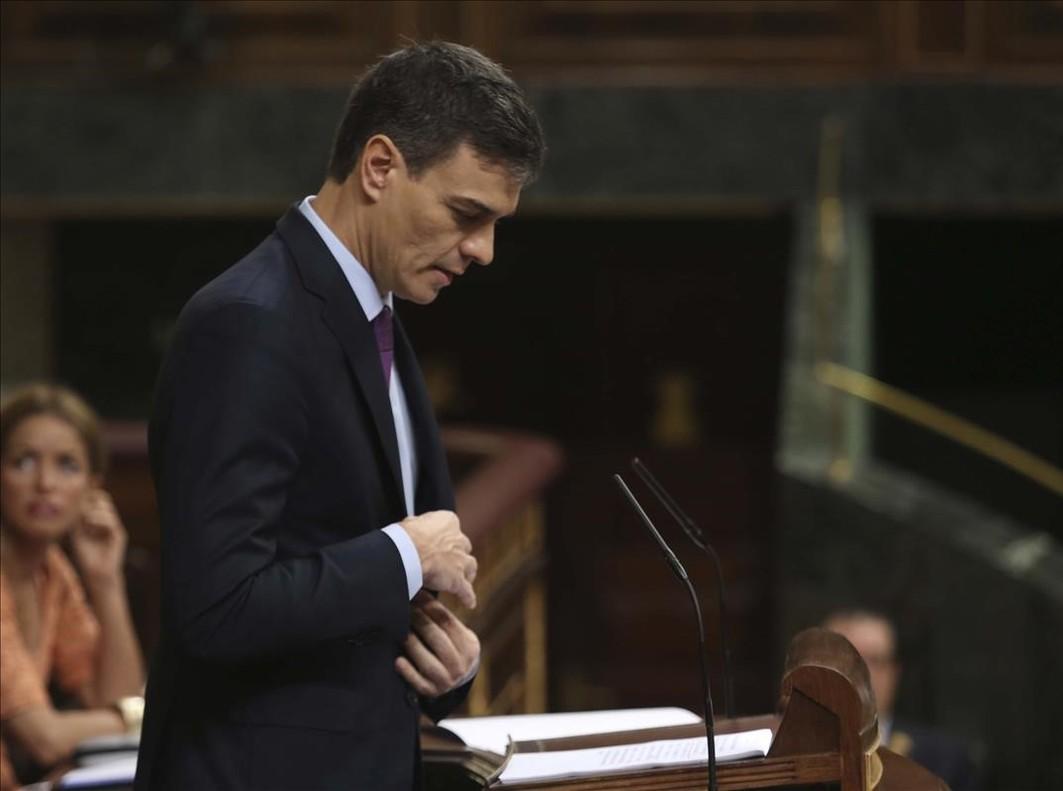 El presidente del Gobierno, Pedro Sánchez, en la sesión plenaria del Congreso de la pasada semana