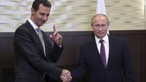 Reunión Putin y Asad en diciembre del 2017