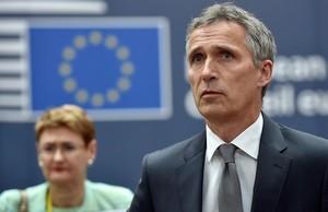 El secretario general de la OTAN, Jens Stoltenberg, a su llegada a la cumbre europea del 28 de junio en Bruselas.