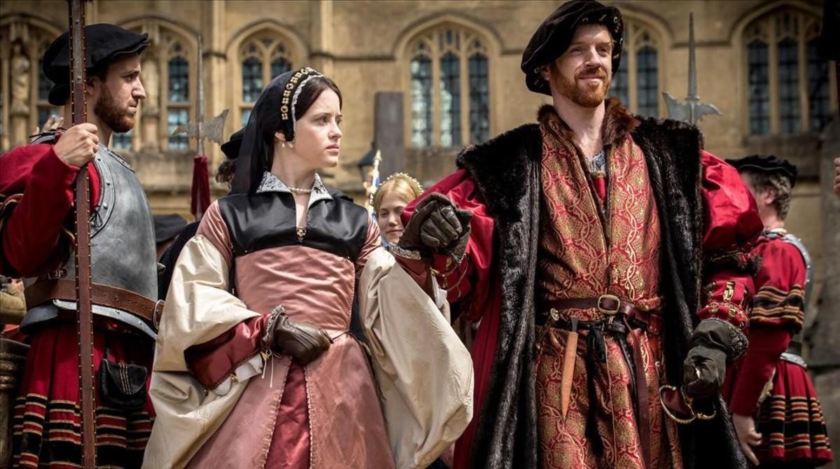 Damian Lewis, como Enrique VIII, en la seriede la BBC Wolf Hall.