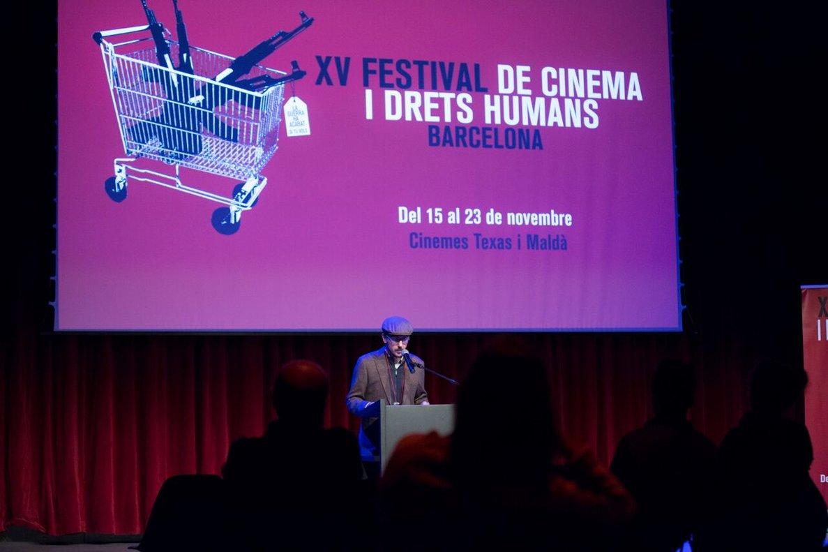 Toni Navarro, director del Festival, en la inauguración de esta edición.
