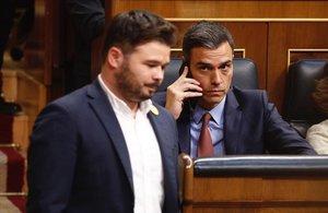 Rufián y Sánchez, en mayo del pasado año en el Congreso.