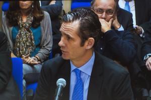 Iñaki Urdangarin comparece como acusado ante el tribunal de la Audiencia de Palma en el juicio del 'caso Nóos'.