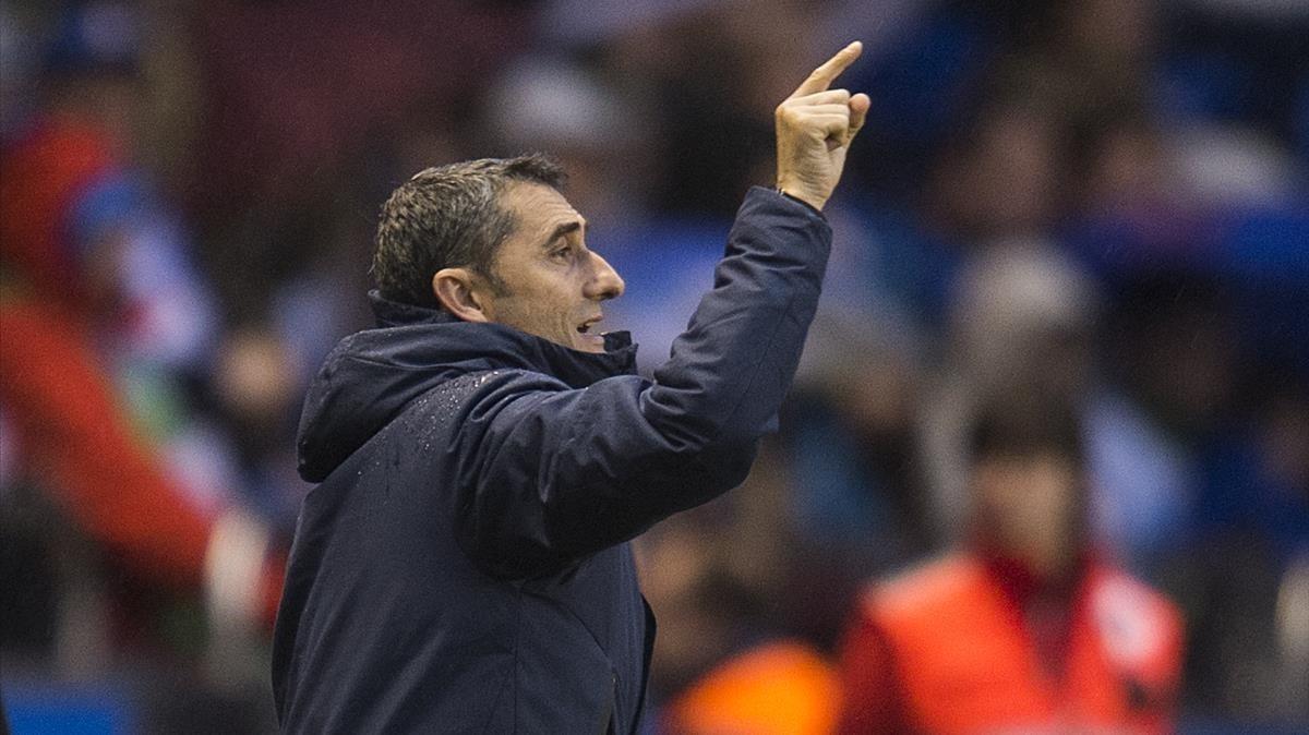 Valverde, en Riazor.