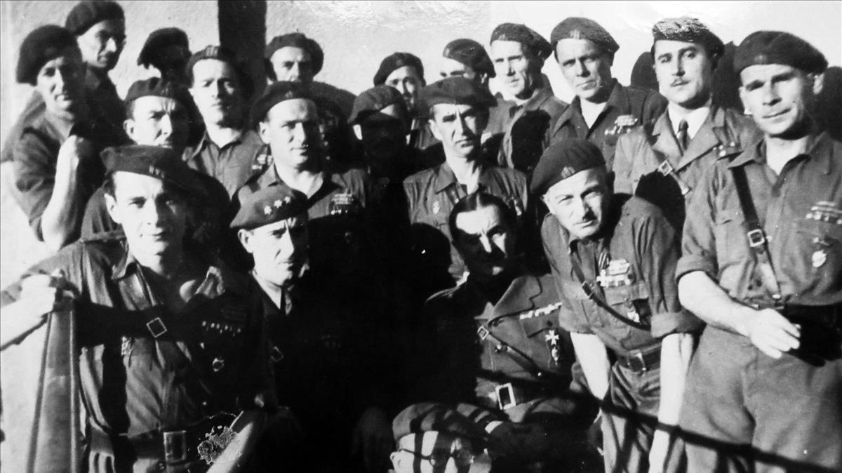 Voluntarios rusos durante la guerra civil española, en 1939.
