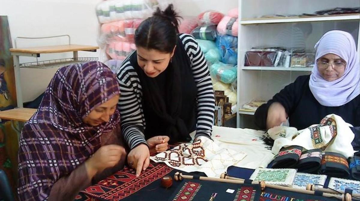 Cooperativa de mujeres palestinas en Cisjordania.