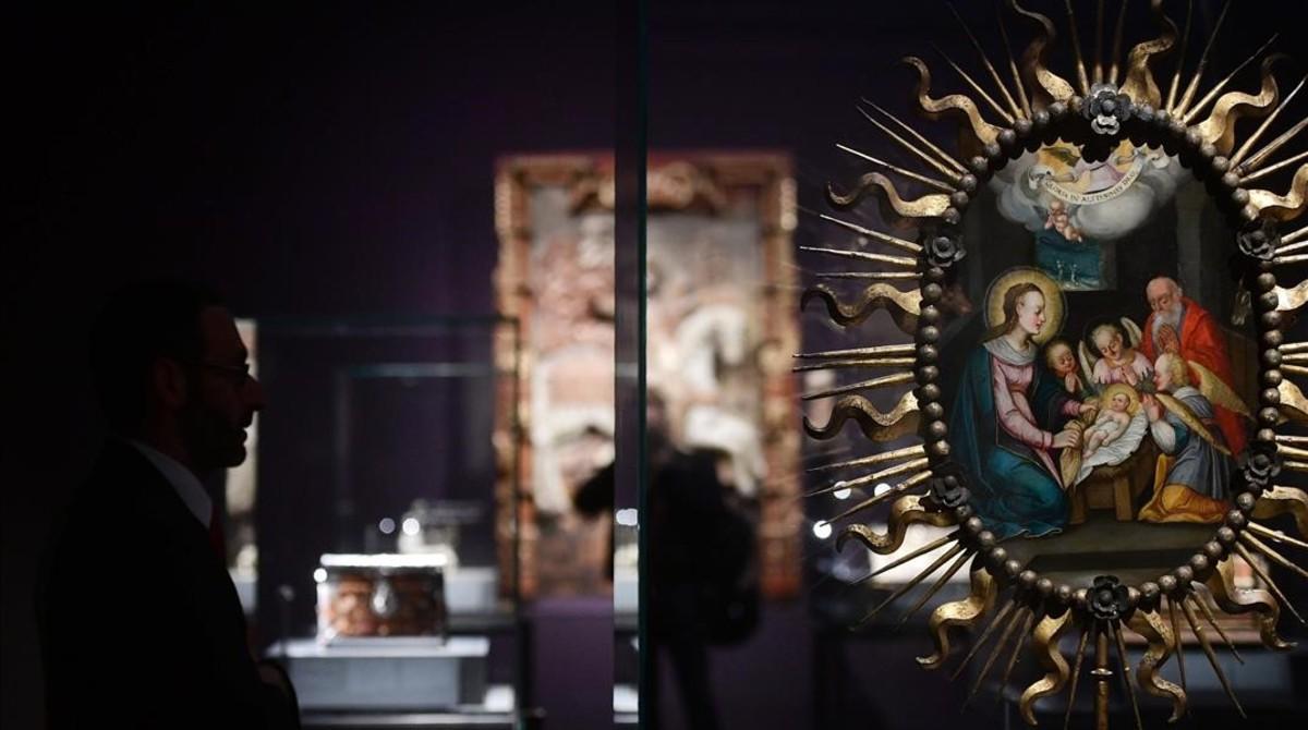 La Natividad, pintura procesional del siglo XVII.