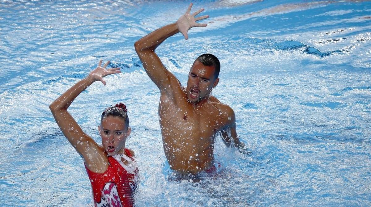 Ferreras y Ribes quedan quintos en el dúo mixto técnico