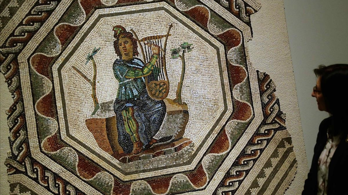 Mosaico de Orfeo del siglo II, encontrado en Vienne (Francia).