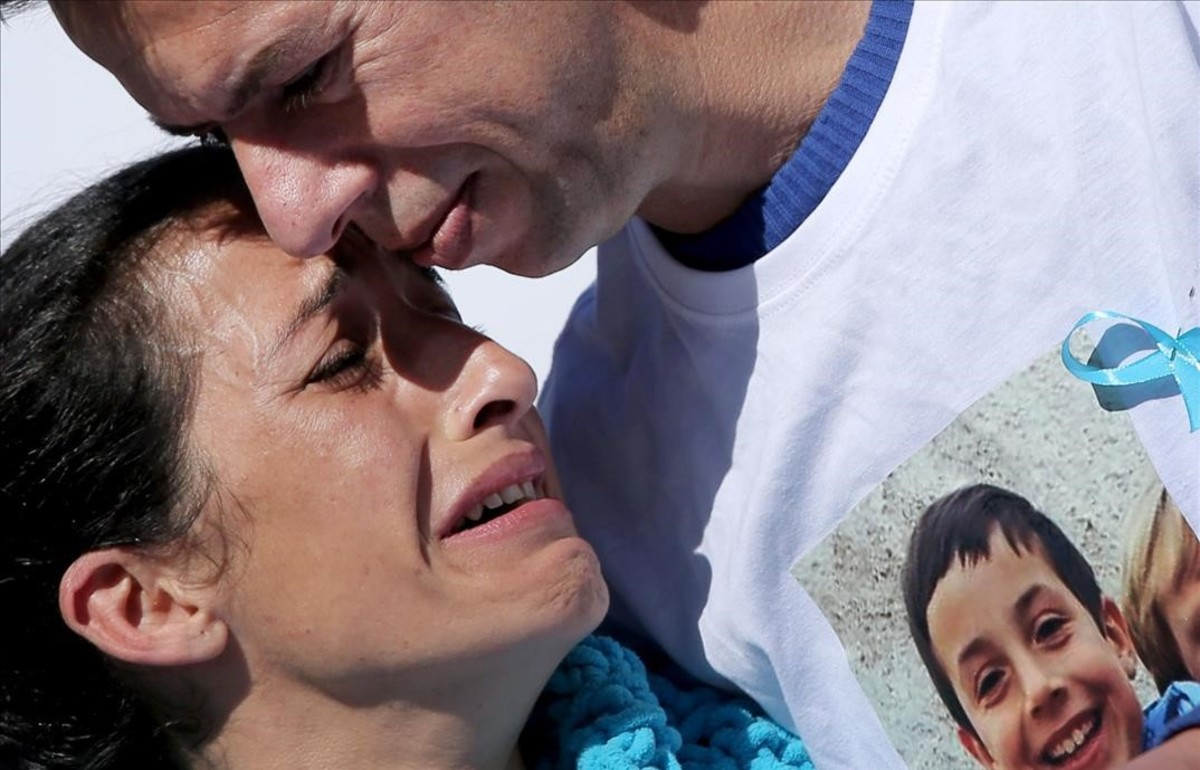 Patricia y Ángel, padres de Gabriel.