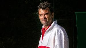 Sergi Bruguera, en Barcelona, en vísperas de Roland Garros.