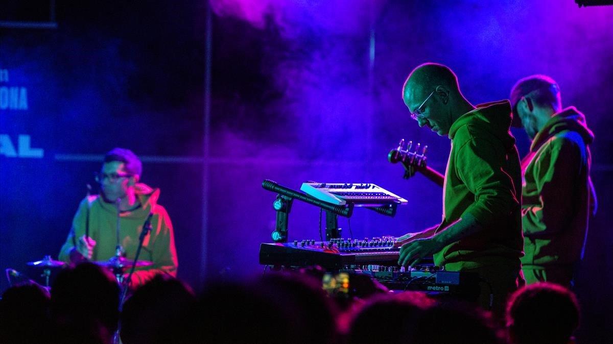 Un momento de la actuación de Beat Music en La 2 de Apolo, el martes.
