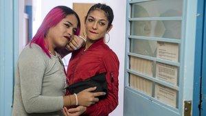 Calanuy Paula, en una de las celdas de la carcel de mujeres de Wad Ras.