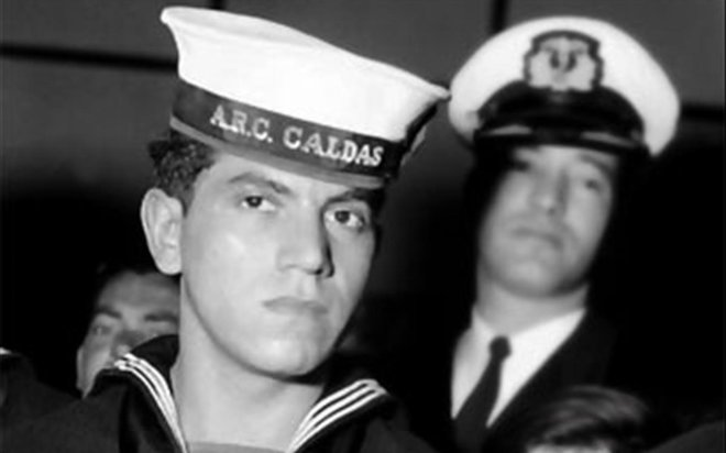 El marinero Luis Alejandro Velasco en sus tiempos de celebridad.