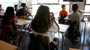 Alumnos del instituto Pla Marcell de Cardedeu.