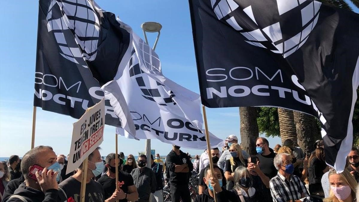 Protesta del gremio de Sitges.