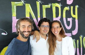 Oriol Vila, Ferran Nogué y Carlota Pi (presidenta ejecutiva), de Holaluz.