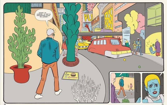 Página de Paciencia, el nuevo cómic de Daniel Clowes.