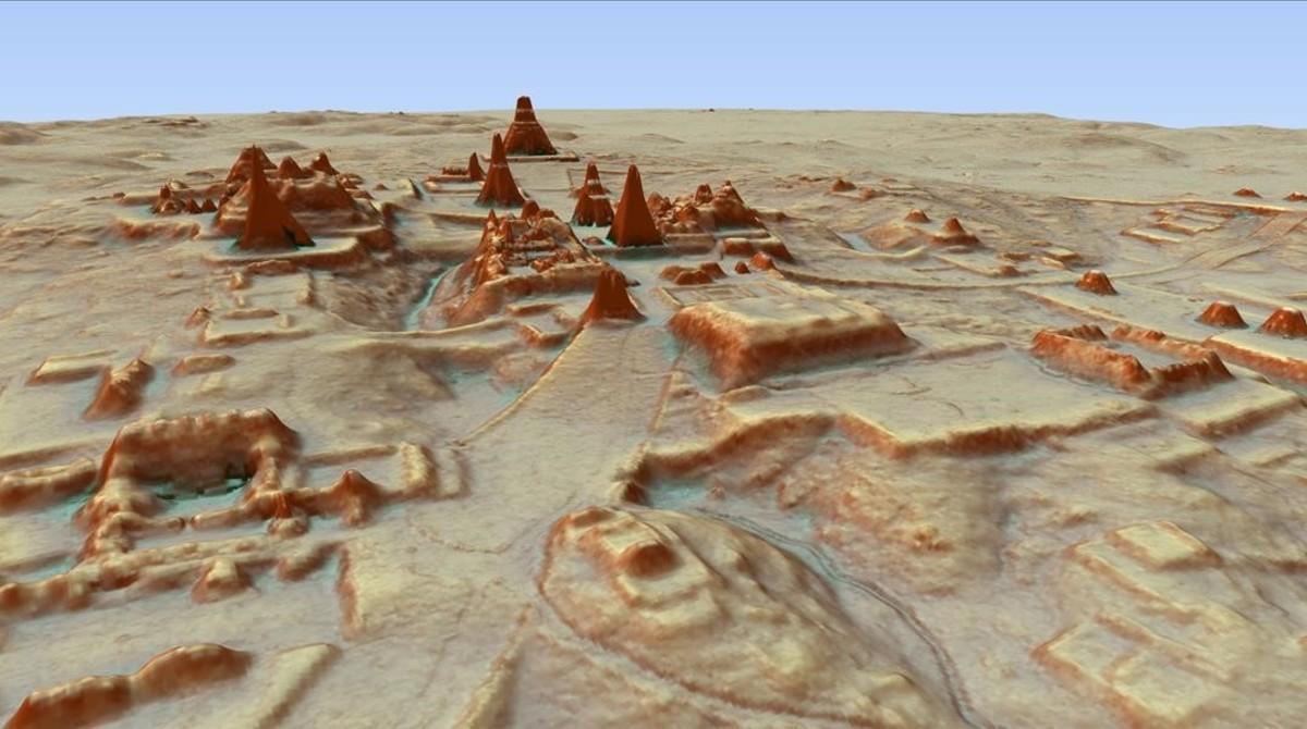 Casas, estructuras defensivas, tumbas y hasta una pirámide de 30 metros de altura -que se pensaba que era una pequeña montaña- son algunas de las cerca de 60.000 estructuras descubiertas.