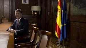 El ministro de Justicia, Rafael Catalá, en la Delegación del Gobierno en Catalunya durante la entrevista.