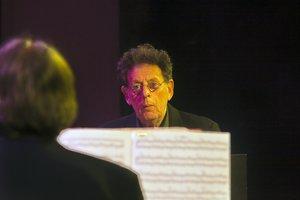 Philip Glass, durante un concierto reciente en el Palau de la Música.