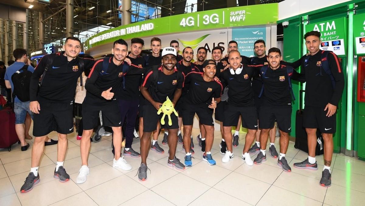 La expedición del Barça en Tailandia