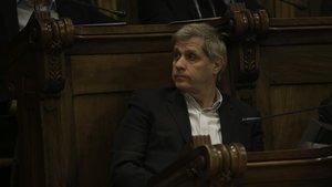 Alberto Fernández Díaz, en el pleno municipal de hoy.