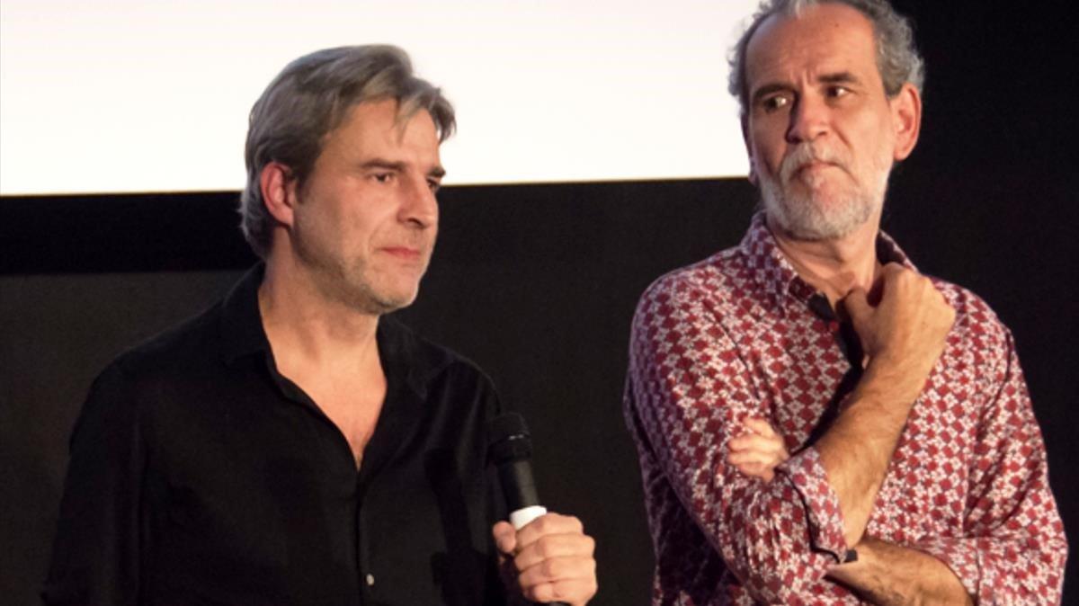 Alberto San Juan y Willy Toledo, en la presentación de 'El Rey' en el Festival de Sevilla