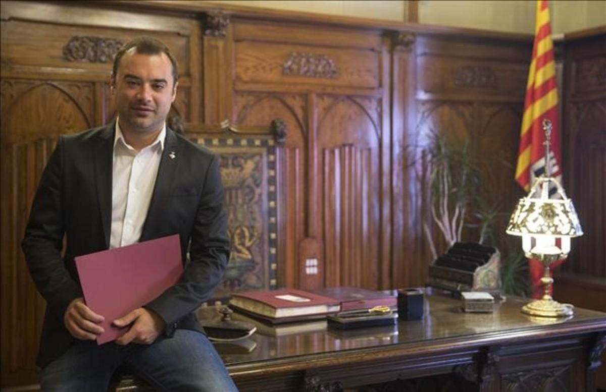 Jordi Ballart, alcalde de Terrassa, en el ayuntamiento.