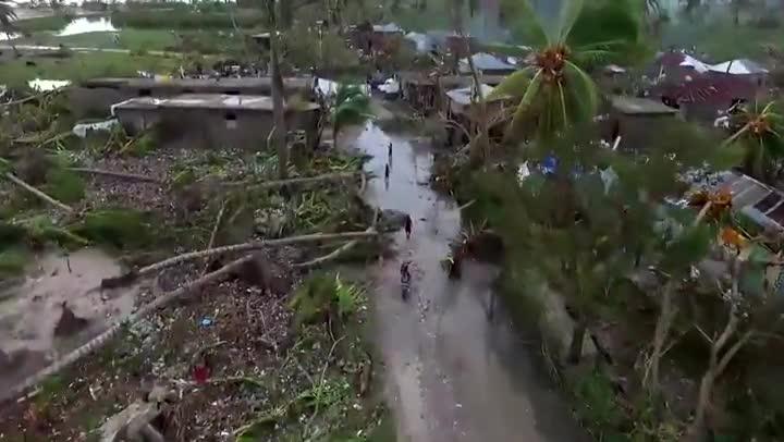 Un vídeo muestra comoha quedado Haití tras el huracán Matthew.