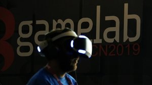 Un asistente del Gamelab Barcelona.