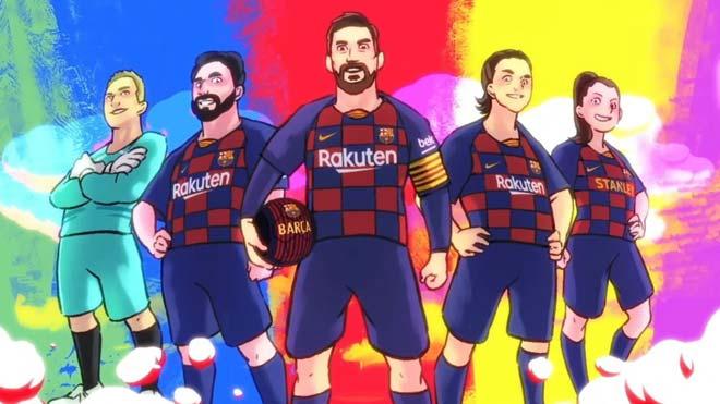 El FC Barcelona celebra el Año Nuevo Chino con un vídeo de animación protagonizado por los jugadores.