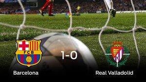 El Barcelona se lleva la victoria en su casa frente a el Real Valladolid
