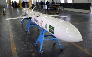 Un misil militar desarrollado en Brasil.