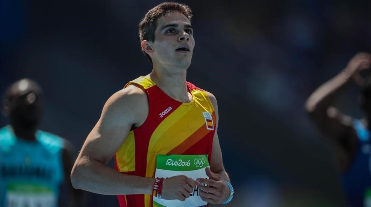 Bruno Hortelano, en los Juegos de Río, antes de sufrir el accidente.