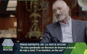 Arturo Pérez-Reverte en 'laSexta Noche'. /ATRESMEDIA
