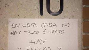 El cartel de Valladolid en contra de Halloween.