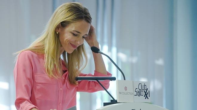 Cayetana Álvarez de Toledo en un acto en Madrid.