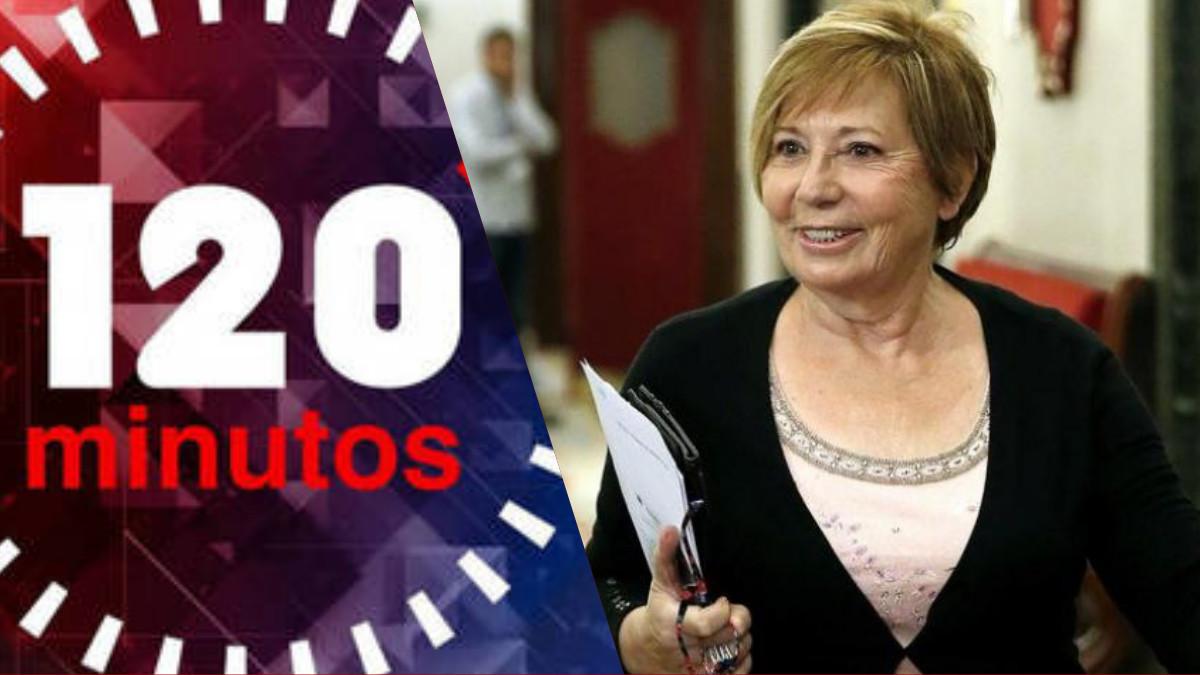 Celia Villalobos, la próxima invitada de 120 minutos, el programa presentado por María Rey en Telemadrid.