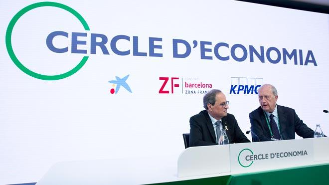 El presidente del Cercle d'Economia, Juan José Brugera, pide a Torra que priorice la acción del Govern y apuesta por una salida consensuada al conflicto catalán.
