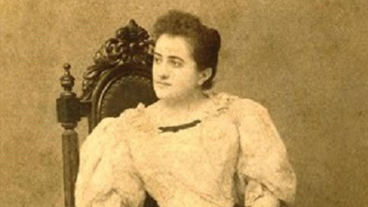 Clotilde Cerdà, en una fotoincluidaen la exposición que le dedica el Palau Robert.