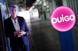 La directora general de Ouigo España, Hélène Valenzuela, en la presentación de la marca.