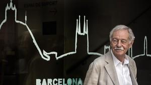 Eduardo Mendoza, en la presentación de El rey recibe, en Barcelona.