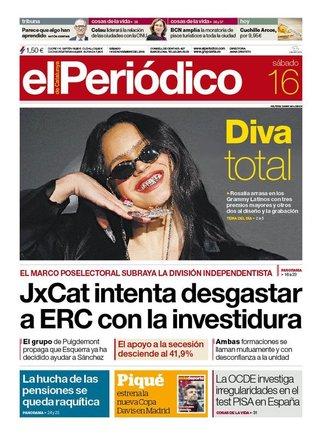 Prensa de hoy: Las portadas de los periódicos del sábado 16 de noviembre del 2019