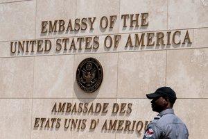La embajada de los Estados Unidos en Haití.