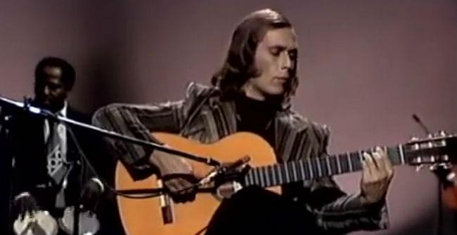 Paco de Lucía interpreta 'Entre dos aguas', a TVE el 1976.