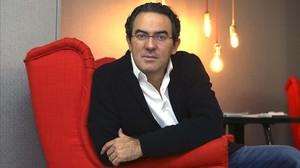 El escritor Juan Gabriel Vásquez, en Madrid.