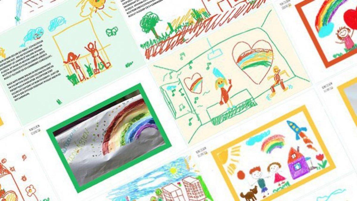La web 'Estimat diari' recoge las creaciones artísticas de los niños y niñas de Barcelona.
