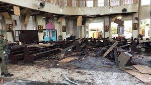 Atentado con granada en una mezquita deFilipanas. EFE