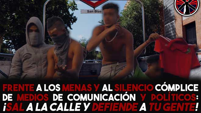Grupos de ultraderecha provocan incidentes contra menas en Madrid.